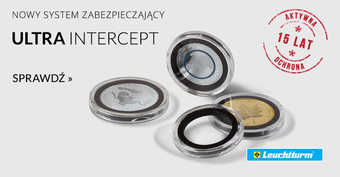 Plastikowy kapsel na monetę Ultra Intercept