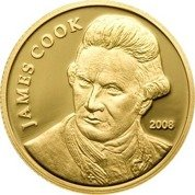 James Cook 1/25 uncji Złota 2008 Proof