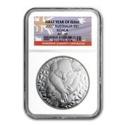 Koala 1 uncja Srebra 2007 First Year of Issue MS69 NGC
