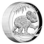 Koala 5 uncji Srebra 2016 High Relief Proof