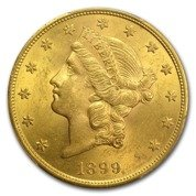 Liberty-S Double Eagle 20 Dollar 1899 Stan 2-