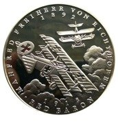 Panama: Red Baron 25.00 Balboas 1988 Proof