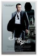 Plakat filmowy: 007 James Bond - Casino Royale 5 gramów Srebra 2020 (Srebrna Folia)
