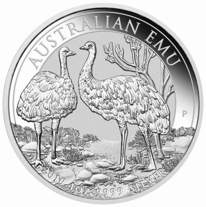 Australijski Emu 1 uncja Srebra 2019 MS 70 NGC First Day of Issue