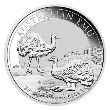 Australijski Emu 1 uncja Srebra 2020 MS 70 NGC First Day of Issue