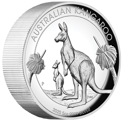 Australijski Kangur 5 uncji Srebra 2020 Proof High Relief