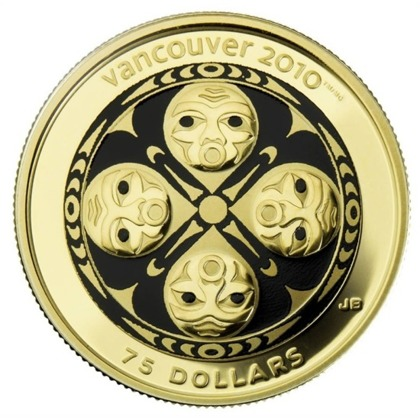 Four Host First Nations $75 2008 Proof