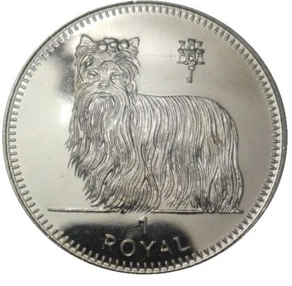 Gibraltar Royal: Yorkshire terrier 1 uncja Srebra 1997 Proof