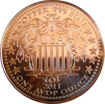 Indianin 1 uncja Copper Round