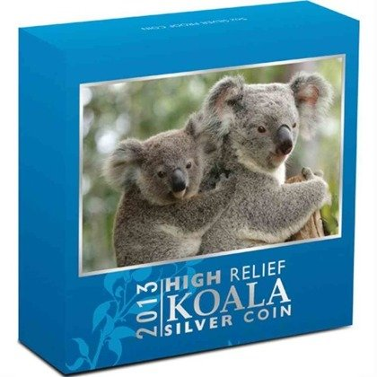 Koala 1 uncja Srebra 2013 PROOF High Relief