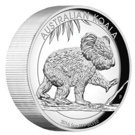 Koala 5 uncji Srebra 2016 High Relief