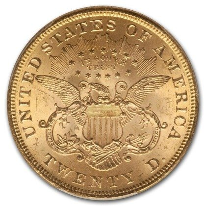Liberty Double Eagle 20 Dollar 1873 Stan 2-