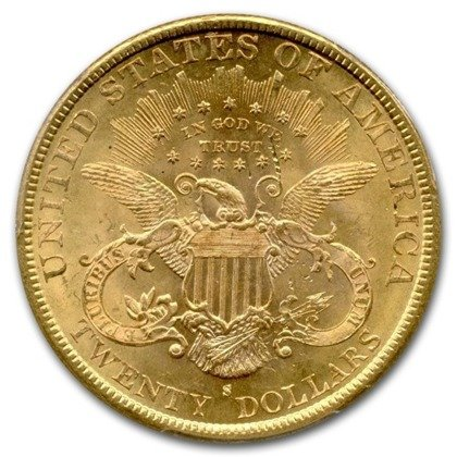 Liberty-S Double Eagle 20 Dollar 1891 Stan 2/2-