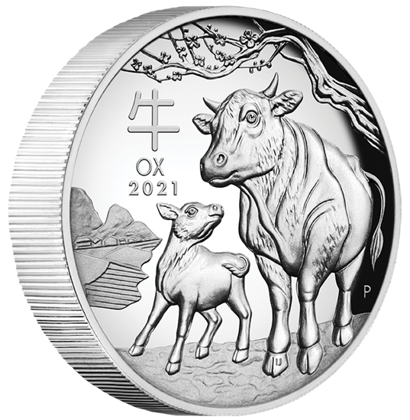 Lunar III: Rok Bawoła 1 uncja Srebra 2021 Proof High Relief