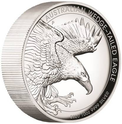 Orzeł Australijski 10 uncji Srebra 2020 Proof High Relief