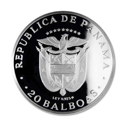 Panama: Simon Bolivar 20 Balboas 1971 Proof
