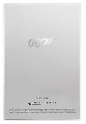 Plakat filmowy: 007 James Bond - 007 Quantum of Solace 5 gramów Srebra 2020 (Srebrna Folia)