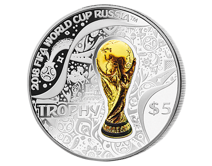 Trofeum 1 uncja Srebra FIFA World Cup 2018 Proof