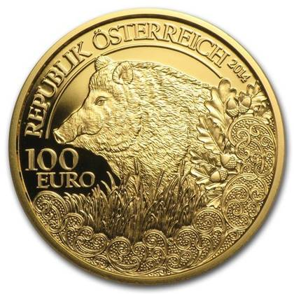 Wildlife in our Sights: Dzik 100 Euro 2014 Proof