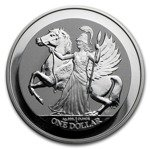 British Virgin Islands Pegasus 1 uncja Srebra 2017 Reverse Proof