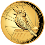 Kookaburra 2 uncje Złota 2020 Proof High Relief